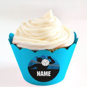 Volleyball Personalized Cupcake Wrappers (Set of 24)
