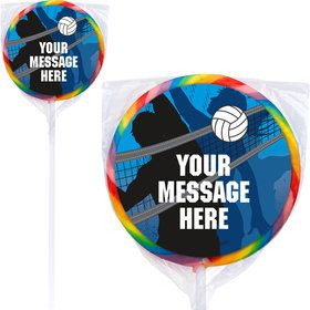 Volleyball Personalized Lollipops (12 Pack)