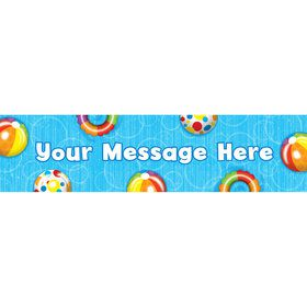 Water Fun Personalized Banner (Each)