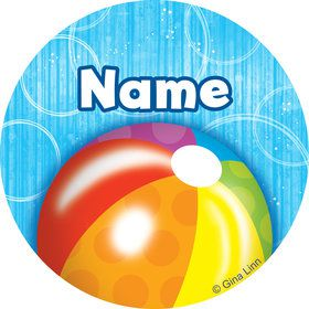 Water Fun Personalized Mini Stickers (Sheet of 24)