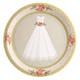 Wedding Gown Dinner Plate (8)