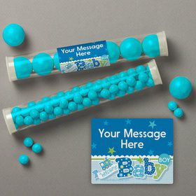 Welcome Baby Boy Personalized Candy Tubes (12 Count)