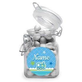 Welcome Baby Boy Personalized Glass Apothecary Jars (12 Count)