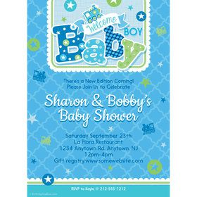 Welcome Baby Boy Personalized Invitation (Each)
