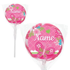 """Welcome Baby Girl Personalized 2"""" Lollipops (20 Pack)"""