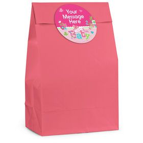 Welcome Baby Girl Personalized Favor Bag (12 Pack)