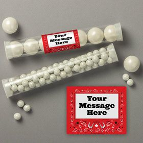 Western Personalized Candy Tubes (12 Count)