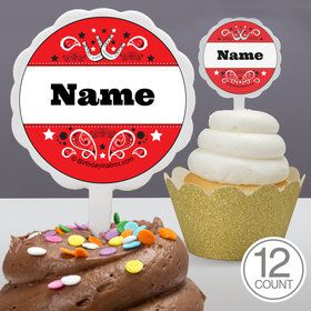 Western Personalized Cupcake Picks (12 Count)