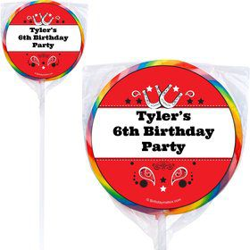 Western Personalized Lollipops (12 Pack)