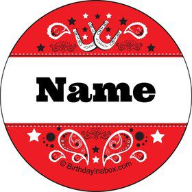 Western Personalized Mini Stickers (Sheet of 24)