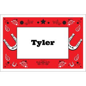 Western Personalized Placemat (Each)
