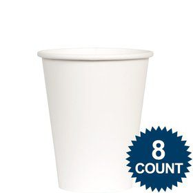 White 9 oz. Paper Cup, 8ct.