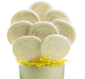 White and White Candy Lollipops (8 Count)