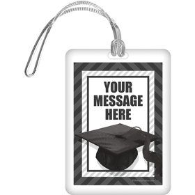 White Caps Off Graduation Personalized Bag Tag (Each)