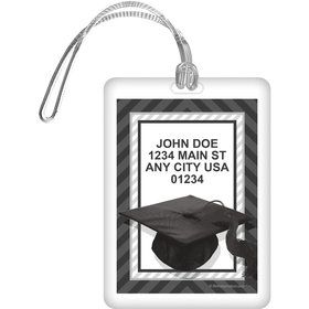 White Caps Off Graduation Personalized Luggage Tag (Each)