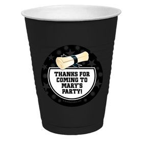 White Grad Personalized Party Cups (50)