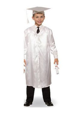 White Graduation Child Robe - One-Size