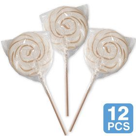 "White Swirl 3"" Lollipops (12 Count)"