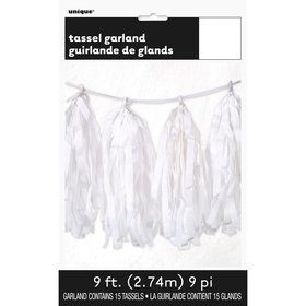 White Tissue Tassl Grlnd-9Ft