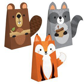 Wild One Woodland Paper Treat Bags (8)