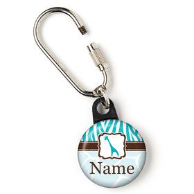 "Wild Safari Blue Personalized 1"" Carabiner (Each)"