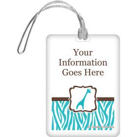 Wild Safari Blue Personalized Luggage Tag (Each)