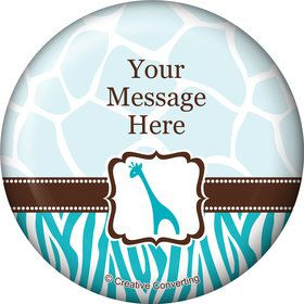 Wild Safari Blue Personalized Magnet (Each)