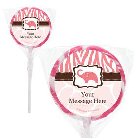 "Wild Safari Pink Personalized 2"" Lollipops (20 Pack)"