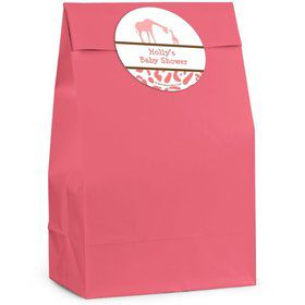Wild Safari Pink Personalized Favor Bag (Set Of 12)