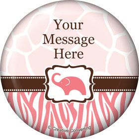 Wild Safari Pink Personalized Magnet (Each)