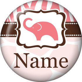Wild Safari Pink Personalized Mini Magnet (Each)