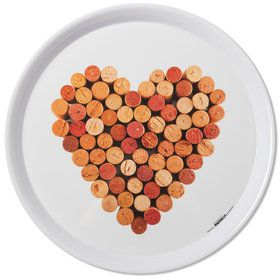 Wine Heart Cork Melamine Tray