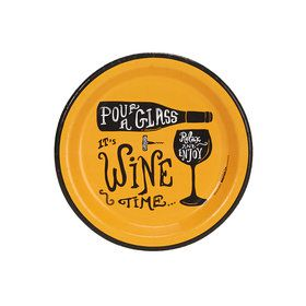 "Wine Time Party Gold 7"" Cocktail Plates (8)"