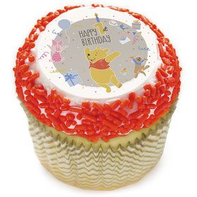 "Winnie the Pooh 1st Birthday 2"" Edible Cupcake Topper (12 Images)"