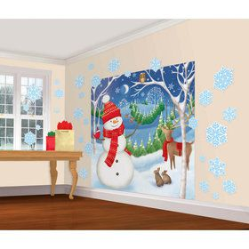 Winter Friends Scene Setter Wall Decoration