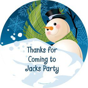Winter Fun Personalized Stickers (Sheet of 12)