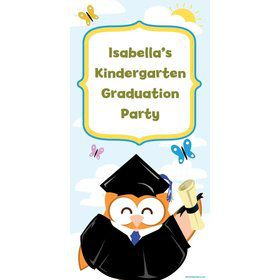 Wise Owl Grad Personalized Giant Banner 30x60 (Each)