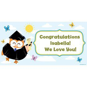 Wise Owl Grad Personalized Giant Banner 60x30 (Each)