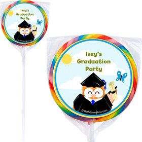 Wise Owl Grad Personalized Lollipops (12 Pack)