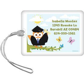 Wise Owl Grad Personalized Luggage Tag (Each)