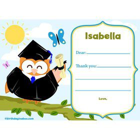 Wise Owl Grad Personalized Thank You (Each)