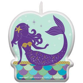 Wishful Mermaid Birthday Candle (1)