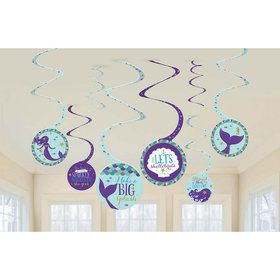 Wishful Mermaid Swirl Decorations (8)