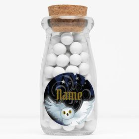 "Wizard Personalized 4"" Glass Milk Jars (Set of 12)"
