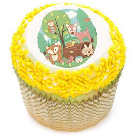 "Woodland Buddies 2"" Edible Cupcake Topper (12 Images)"