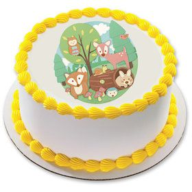 "Woodland Buddies 7.5"" Round Edible Cake Topper (Each)"