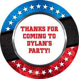 Wrestling Party Personalized Sticker
