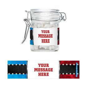 Wrestling Party Personalized Swing Top Apothecary Jars (12 ct)