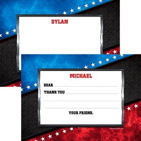 Wrestling Party Personalized Thank You Note