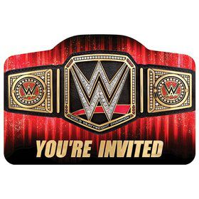 WWE Postcard Invitations 12ct